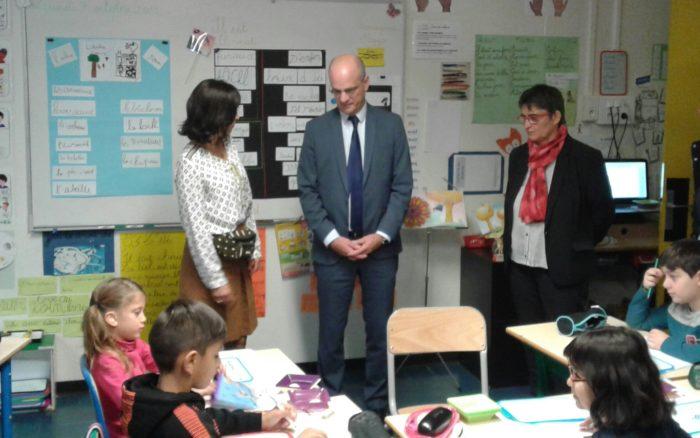 visite de JM Blanquer à Besançon
