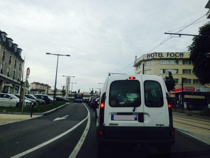 Embouteillages à Besançon