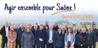 la liste menée par Benoit Vuillemin à Saône